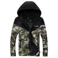 XXXL PLUS SIZE Fashion brand Men's camouflage patchwork hooded waterproof military uniform jacket coat windbreaker N10052