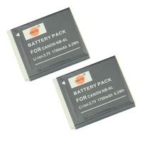 DSTE 2PCS NB-6L Li-ion Battery Pack for Canon PowerShot SX170 IS, SX240 HS, SX260 HS, SX270 HS