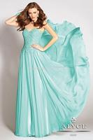 Free Shipping Fashion A-Line Strapless Sweetheart Appliques Beads Chiffon Graduation Dresses Long/Party Dress