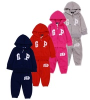New arrival 5sets/lot  Spring Autumn Baby Sets hooded kids tracksuits Top+Pants 2pcs Set Baby Clothing sets 4Colors 3337