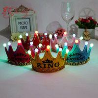 Birthday Hat Party Hats Birthday Party Hats Crown Prince and Princess Tiara Birthday Party Supplies Flashing Light Tiara Crown