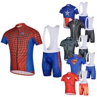2014 Cycling Clothing team Short Jersey BIB shorts set Spiderman  Low Price coolmax Super Hero Bike Wear Outdoor Sportswear