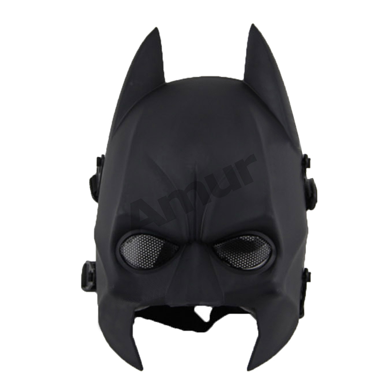 Amur Halloween Masquerade Fancy Dress Party CS Game Paintball Batman Half Face Head Protection Safety Mask(China (Mainland))