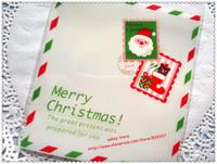 100pcs/lot Christmas messenger cookie plastic bags,10x11cm food bag,cupcake packaging bag free shipping