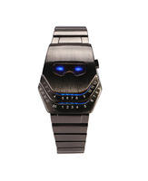 Low Price Waterproof LED Electronic Men Women Stainless Steel Wristwatches Blue Binary led Displayer Luminous Sports Watches