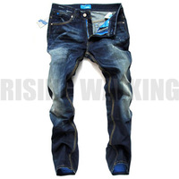 HOT SALE Free Shipping retail(1piece) fashion 2013 high quality Nostalgic retro beggar hole cotton DI brand men's jeans#8876