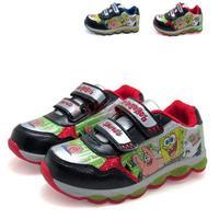 Kids Shoes 2014 New Spring Winter LoLoo Brand Children Sport Sneakers For Kid Boys Spongebob Fashion Flashing Light Velcro Shoe