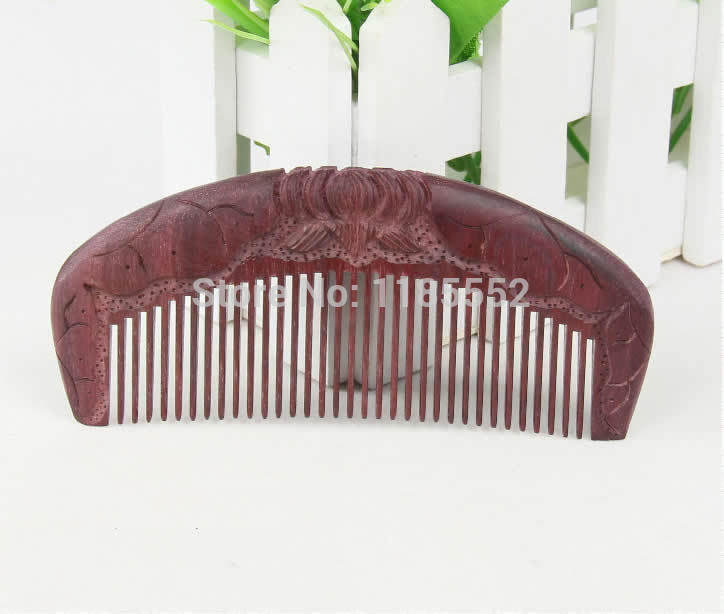 Rosewood Half Moon Shaped Toothed Healthy Comb No-static Hair Care No Handle(China (Mainland))