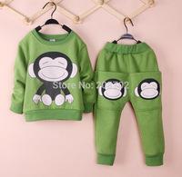 Children's long-sleeved cotton autumn paragraph monkey suit