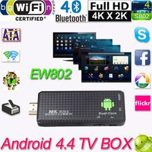HDMI MK809II Bluetooth Android 4.4 TV Dongle Stick Media Player Mini PC Dual Core RK3066 1G/8G Wifi XBMC EU/US Plug(China (Mainland))