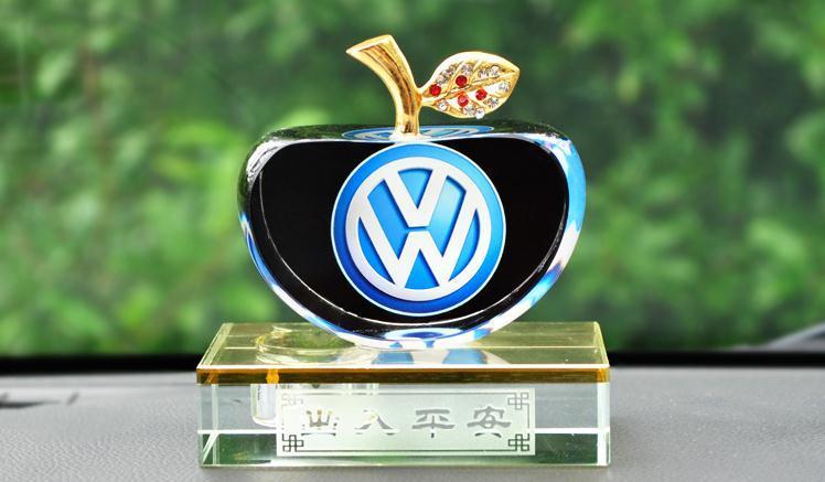 maçã diamante perfume de cristal do carro caixa base para lavida volkswagen passat cc scirocco golfe polo touareg tiguan besouro(China (Mainland))