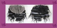 "Free Shipping 12Inch (13""X6"") Brazilian Virgin Hair Malaysian Curl Lace Frontal Bleach Knots"