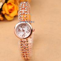 2014 explosion models selling ladies fashion design high quality quartz bracelet luxury brand rose gold diamond watch FC337#