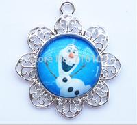 2014 Wholesale 10pcs/lot fashion Frozen Snowman Olaf pendant  for chain necklace kids girl party favors jewelry !!!
