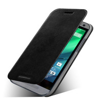 100% Real Genuine Leather case cover for htc one m8 mini Case Cover with stand, ,free shipping