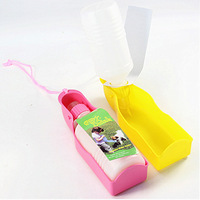 Brand New Portable Feeding Bottle Dog Watering Ourdoor Travelling Bowl Dish Pet Products (Color Random)
