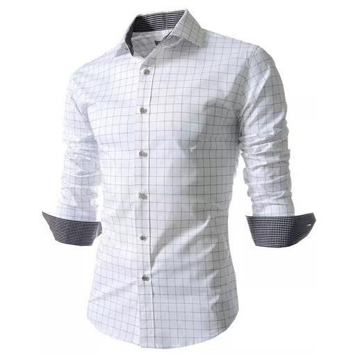 Foreign Trade 2015 Top Quality Mens Slim Fit Shirts Plaid Printed For Men British Style Long Sleeve Shirt Man Casual Shirt M-XXL(China (Mainland))