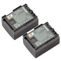 DSTE 2PCS BP-808 Li-ion Battery Pack for Canon FS200, FS300, FS400, FS21, FS22, FS31, FS40