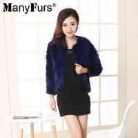 2014 Winter Elegant Natural Raccoon Fur Women Coat Warm Short Style Pure Color Ladies Furs Coats 5 Colors