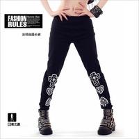 DJ-26 Harajuku Legging Spring Autumn skinny Street dance wear Joggers Hip hop women jogging pants for women Sports legging Dance