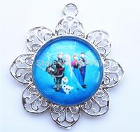 10pcs Frozen Queen Elsa/Anna Princess/Olaf/Sven Pendant Cartoon Character Fashion Girls Children Jewelry Wholesale