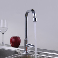 single cold faucet bathroom basin sink tap tall chrome brass faucet