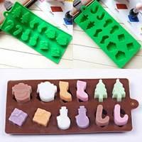 Xmas Gift Silicone Sugarcraft Tool Cake Chocolate Fondant Baking Mould Decor