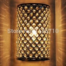 2pcs/lot Contracted and contemporary  Crystal wall lamp Semicircle crystal wall lamp Decorative lamps and lanterns Free shipping(China (Mainland))