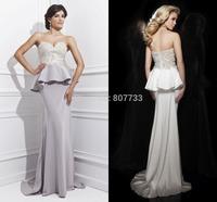 CY4192 Strapless White Purple Sweetheart Beaded Mermaid Evening Dresses Pelpum Vestido Longo