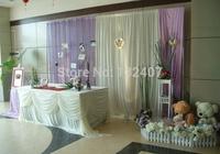free shipping wedding backdrop drape/wedding backdrop for bride and groom /  wedding decoration