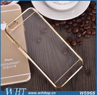 """10pcs/Lot! Noble Case for iPhone 6 4.7"""" Blank Clear Transparent Back Cover Chromed Hard Case with Retail Package Free Shipping"""