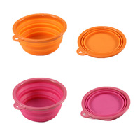 Wholesale Collapsible Dog Bowl Hot Sale Silicone Pet Feeder Watering Travelling Bowl Dish (Color Random)