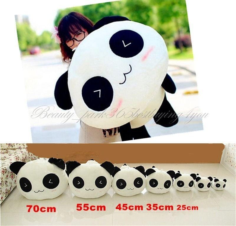 "Free Shipping 25CM 10"" Stuffed Plush Doll Toy Animal Giant Cute Panda Pillow Bolster Gift HG-0034_25(China (Mainland))"