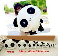"Free Shipping 25CM 10"" Stuffed Plush Doll Toy Animal Giant Cute Panda Pillow Bolster Gift HG-0034_25"