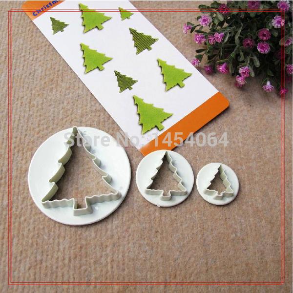 3 PCS Xmas Tree bolo Cookies pastelaria Fondant Sugarcraft cortador molde Biscuit(China (Mainland))