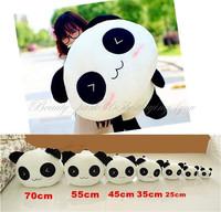 "Free Shipping 35CM 13"" Stuffed Plush Doll Toy Animal Giant Cute Panda Pillow Bolster Gift HG-0034_35"
