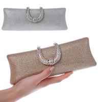 Shining Evening Bag Rhinestone Jewel Blinking Women Clutch Bag Chain Shoulder Strap Clutch Purses Slim Long Ladies Handbags