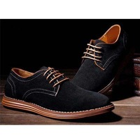 British Fashion Men Flat Basic Genuine Leather Shoes Spring/Autumn Casual Suede Shoe Black Yellow Blue Gray 1 Pair Free Shipping