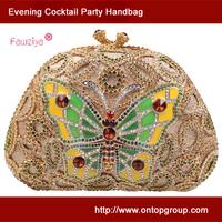 Butterfly pattern high class party clutch bag for women