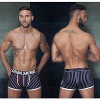 2014 Lycra Cotton Shorts Brand High quality men underwear cotton underwear Sale Belts Winter Indoor clothing for men Stripes