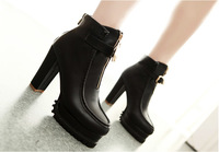2014 women's martin ankle boots female lady round toe high heel autumn boots sy-761