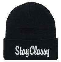 Hot Selling New STAY CLASSY Style Fashion Men Women Skull Beanie Hat Winter Fall Hiphop Warm Cap