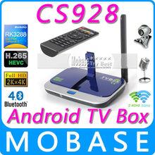 MOBASE CS928 Android TV Box RK3288 Quad Core Smart TV XBMC 1.8G 2G/16G HDMI H.265 2.4G/5GHz WiFi Media Player Micphone Camera(China (Mainland))