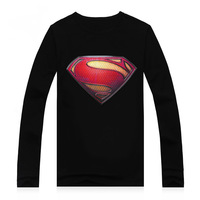 Free shipping Men's crystal print t shirt  quality casual creative personality  cotton long sleeves t shirt