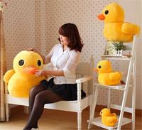 "Free Shipping 1x 24CM 9"" Stuffed Plush Doll Toy Cute Yellow Duck Pillow Doll Animal Soft Toy HG-0035_30"