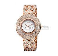 Fashion Brand WEIQIN Gold Steel Women Casual Watch Round Bling Diamond Dial Lady Vintage Dress Quartz Watch Wristwatch