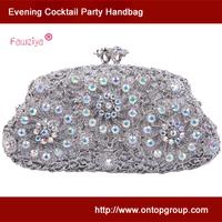 Kiss lock mini size floret cocktail party handbag wedding party clutch bag