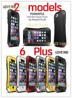 Original LOVE MEI Shockproof Dirtproof Powerful Waterproof Metal Case For iPhone 6 Plus (5.5 inch)  Free Shipping