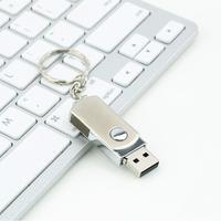 1pcs Metal Roating USB2.0 Flash Memory Drive 16GB 32GB 64GB Stick Pen Thumb U Disk