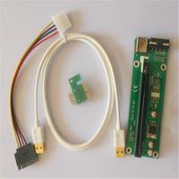 1pcs PCI-E 16X to 1X Adapter USB 3.0 Cable Enhanced Extender Riser Adapter Set